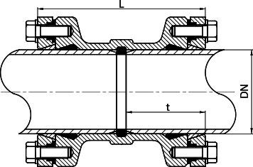 Соединительная муфты для ПЭ и ПВХ труб
